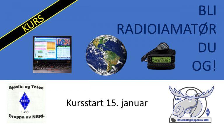 Kurs – Bli radioamatør du og!